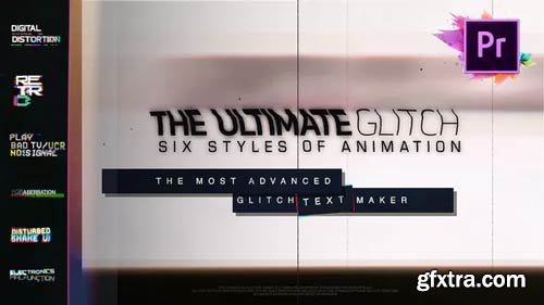 Videohive - 70 Glitch Title Animation Presets Pack For Premiere Pro | MOGRT - 23347350