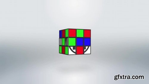 MotionArray Rubik Clean Logo 196601