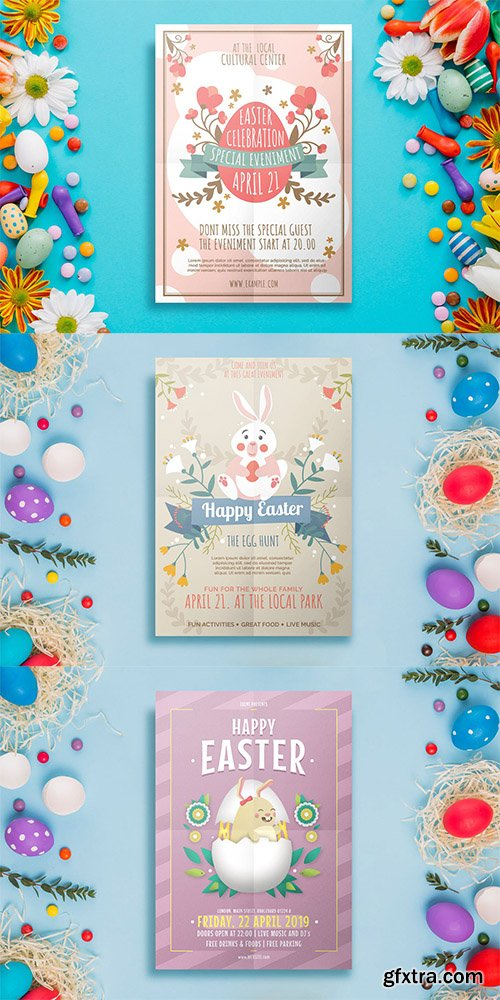 3 Easter Flyer Templates