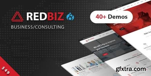 ThemeForest - RedBiz v1.0 - Business & Consulting Multi-Purpose Drupal 8 Theme - 22490517