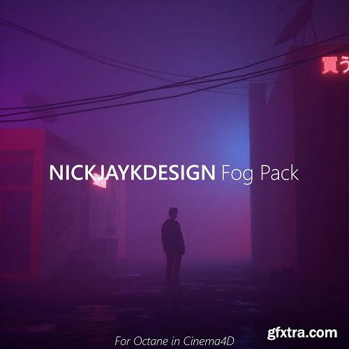 Fog Preset Pack - For Octane in Cinema4D - Includes 4 scene files