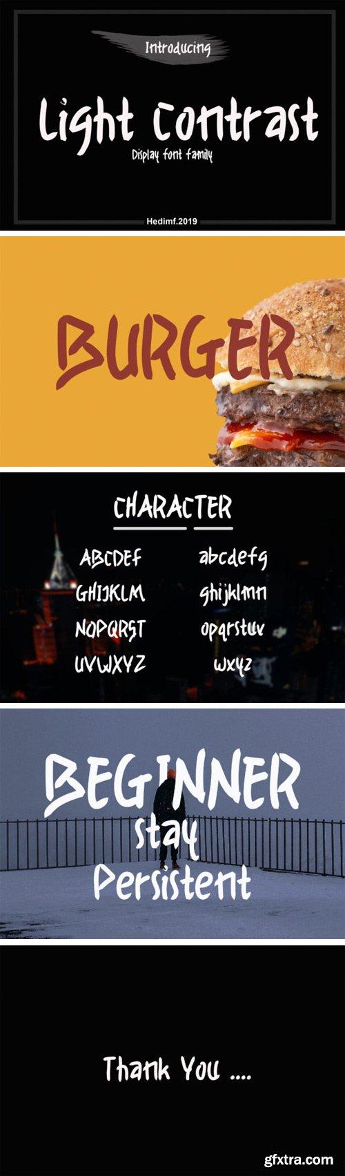 Light Contrast Font