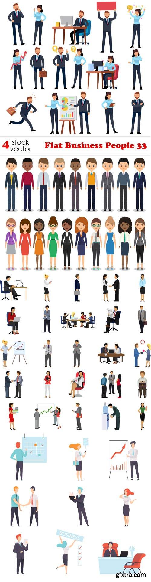 Vectors - Flat Business People 33