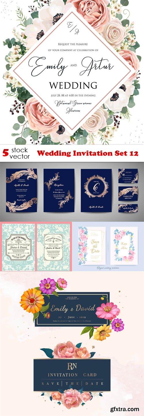 Vectors - Wedding Invitation Set 12