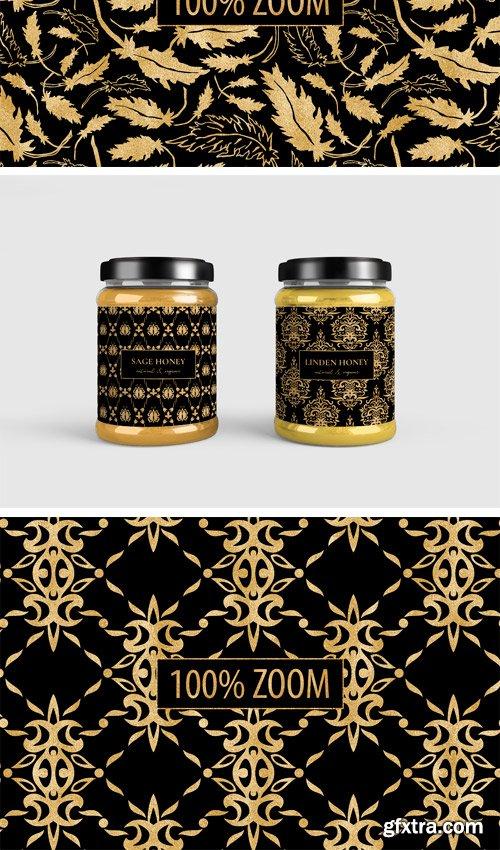 Designbundles - Black and Gold Seamless Papers 228877