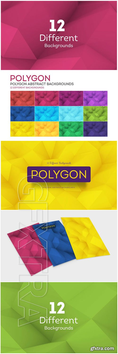 Colorful Polygonal Backgrounds