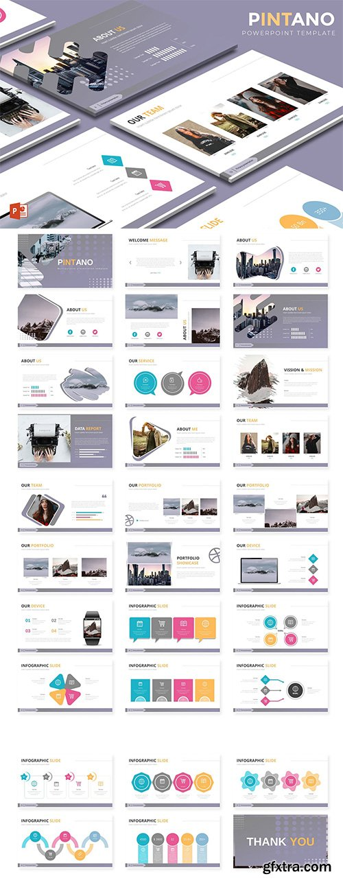 Pintano - Powerpoint Keynote and Google Slides Templates