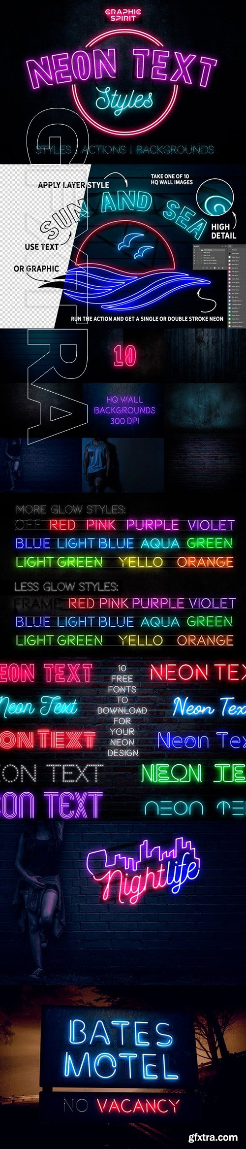GraphicRiver - Neon Text Layer Styles & Extras 23426935