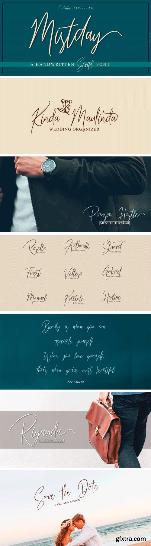 Mistday Script Font