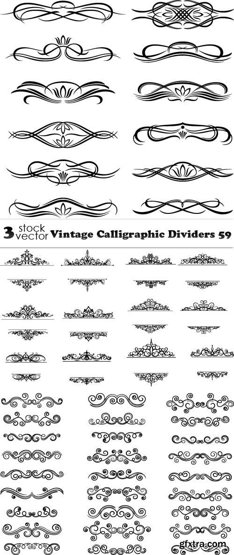 Vectors - Vintage Calligraphic Dividers 59
