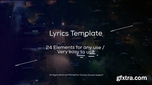 VideoHive Lyrics Template and Elements 22691939