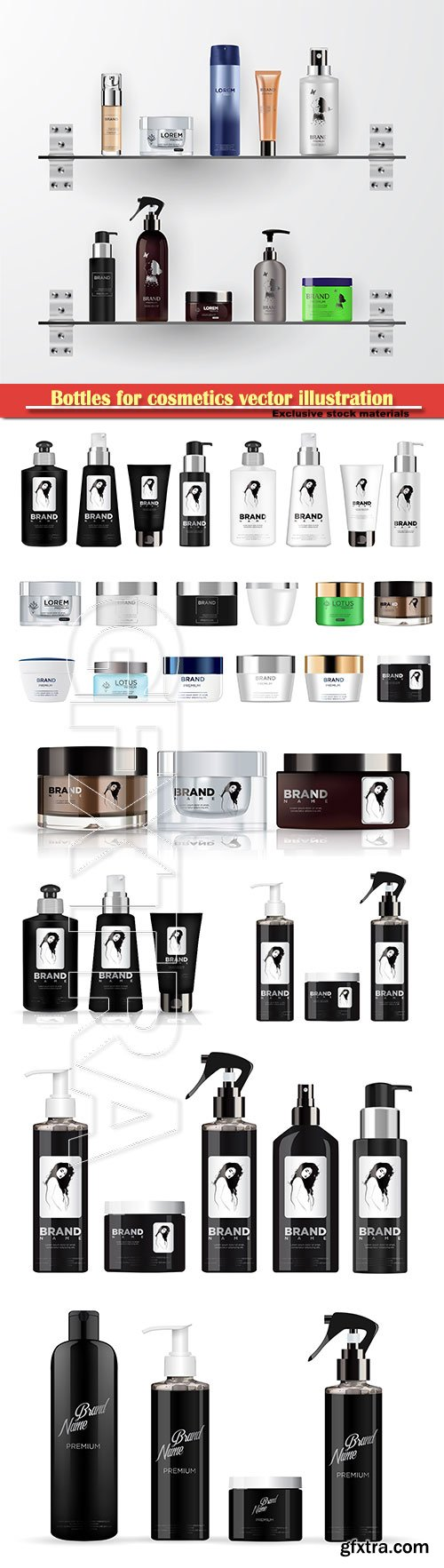 Bottles for cosmetics vector illustration # 2