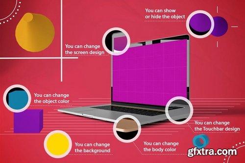 Abstract MacBook Pro MockUp