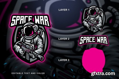 Space War Sport and Esport Logo Template