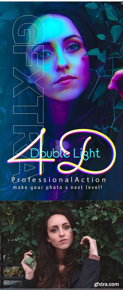 GraphicRiver - 4D Double Light Photoshop Action 23452261