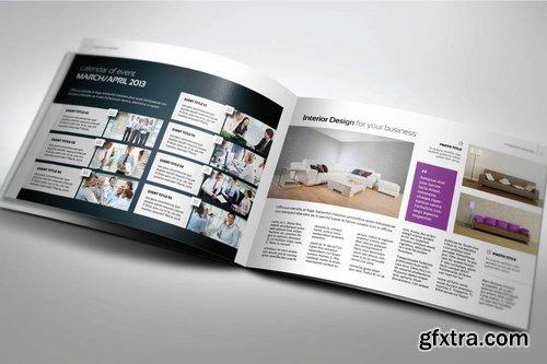 Interior A5 Landscape Magazine template