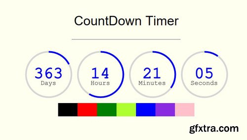 CodeSter - Circle Countdown Timer jQuery v1.0 - 9429