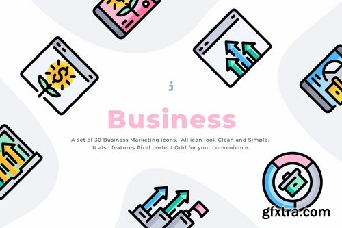 30 Business Marketing Icons