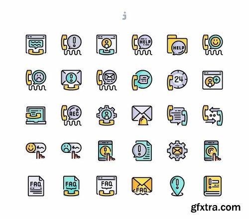 30 Call Center Icons