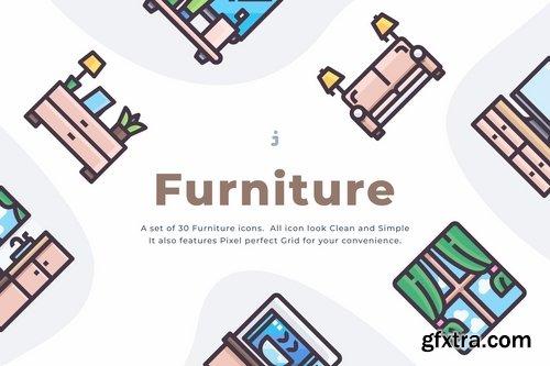 30 Furniture Icons