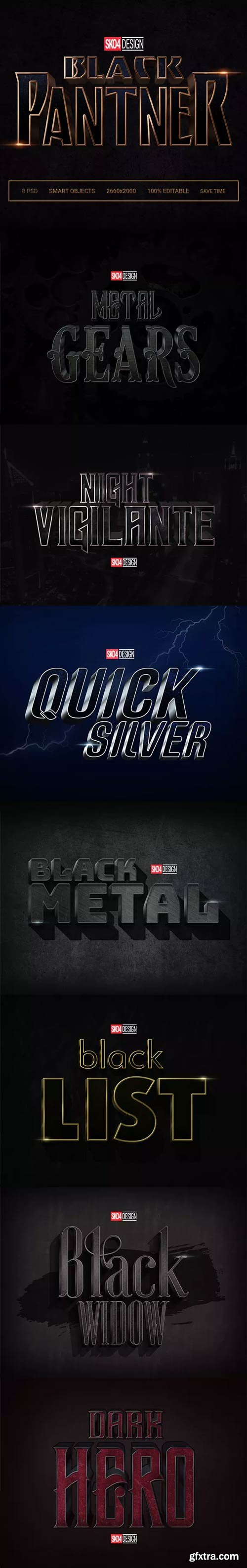 GraphicRiver - Black & Metal 3D - 8 PSD Cinematic Effects - 21579653