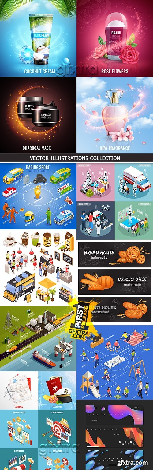 Business isometric icon vector illustration collection 15