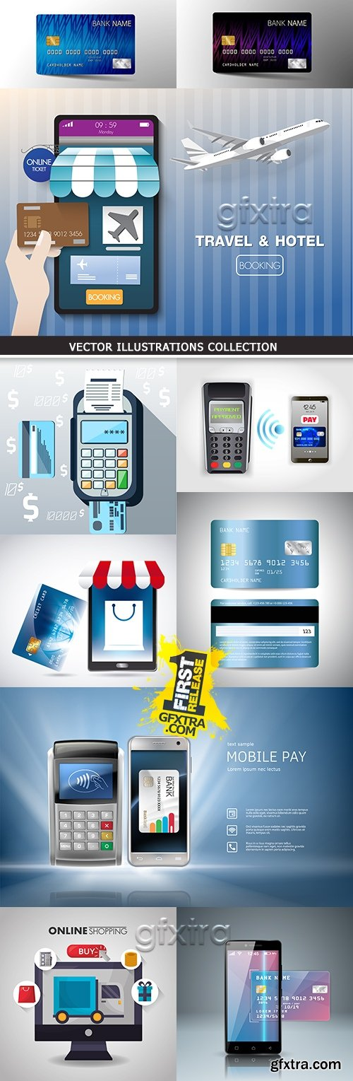 Internet online payment by credit card and mobile application