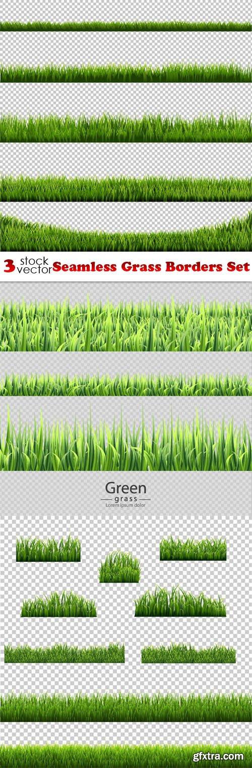 Vectors - Seamless Grass Borders Set