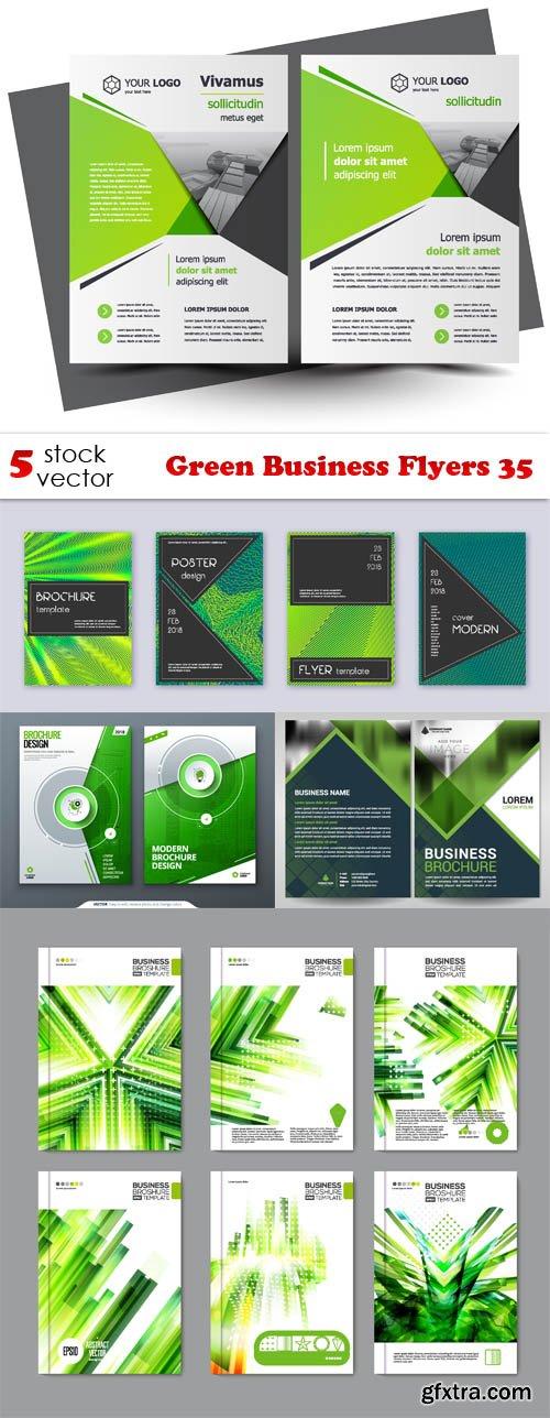 Vectors - Green Business Flyers 35