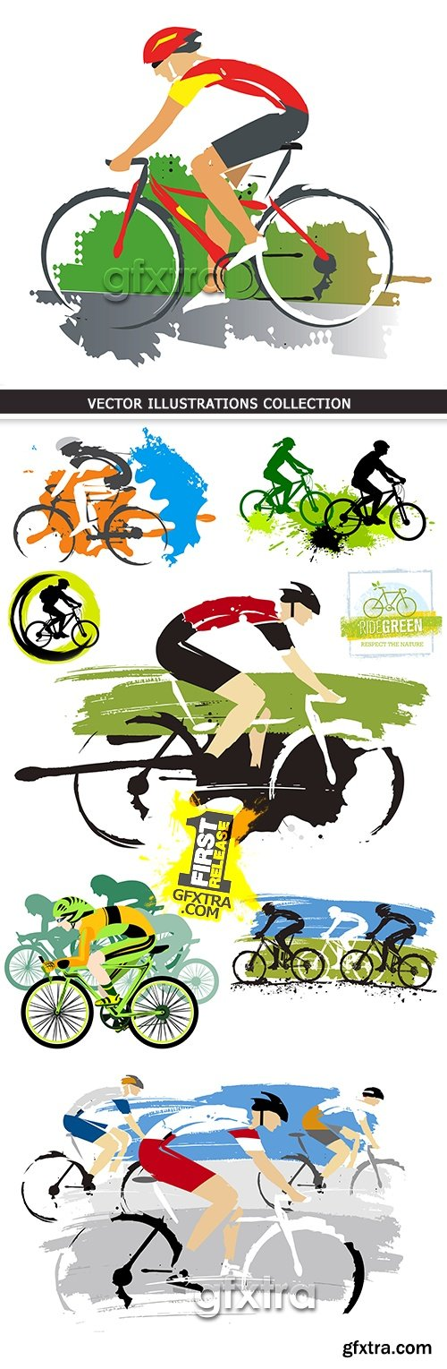 Thriathlon sport of race and driving the bicycle