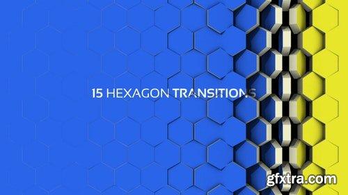 MotionArray Hexagon Transitions 198575