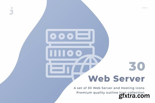 30 Web Server and Hosting Icons