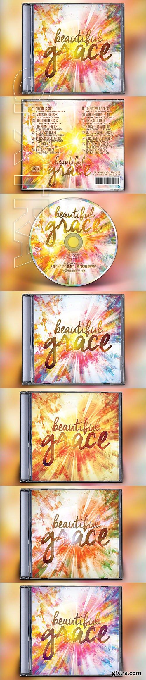 CreativeMarket - Beautiful Grace CD Album Artwork 3165757