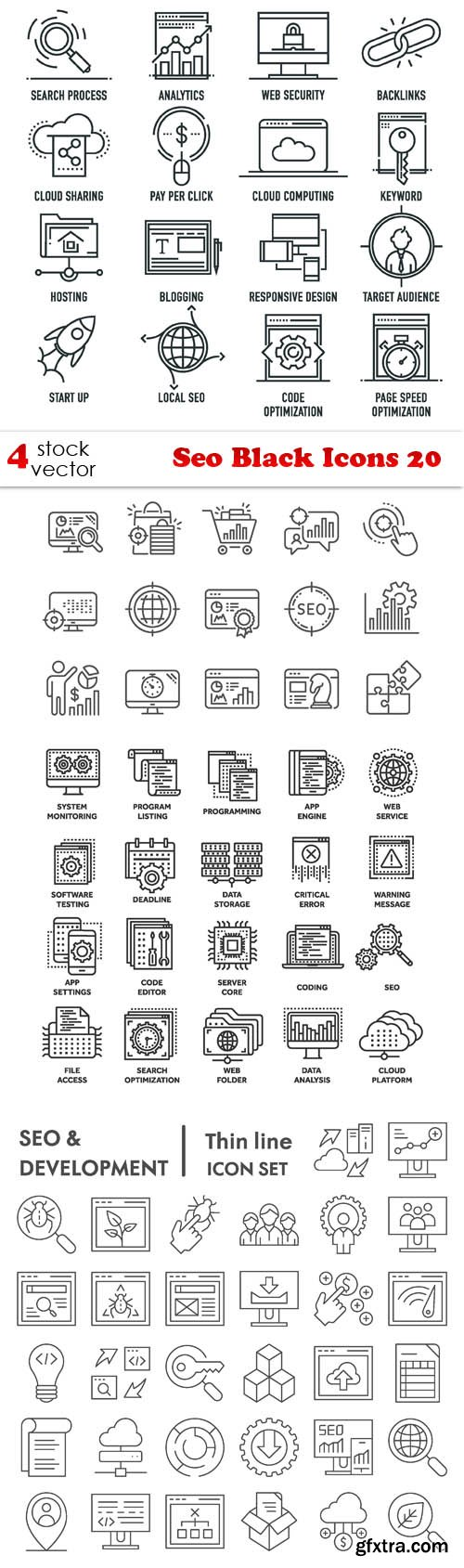 Vectors - Seo Black Icons 20