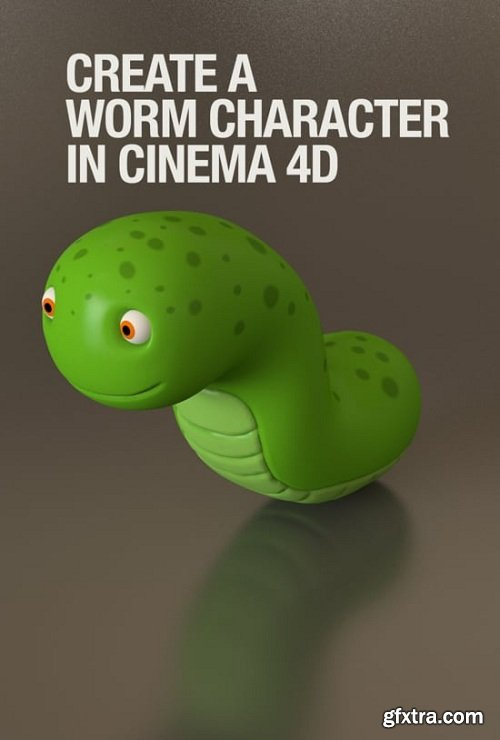 Create a worm character using Cinema 4D and UVLayout