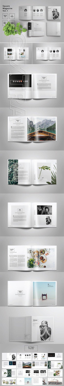 CreativeMarket - Square Magazine Template Indesign 2576551