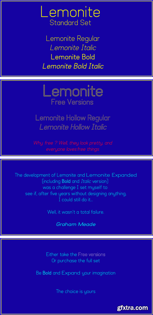 Lemonite Font Family » GFxtra