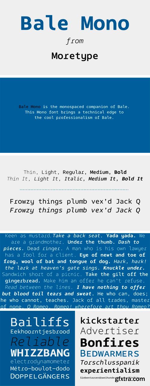 Bale Mono Font Family