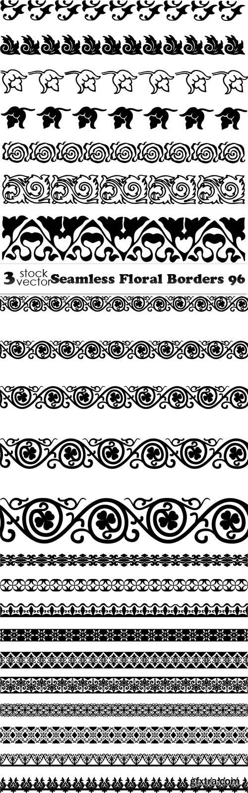 Vectors - Seamless Floral Borders 96