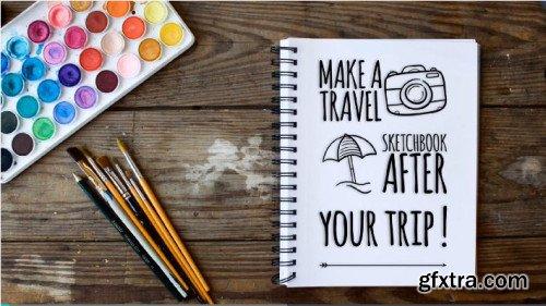 Make a travel sketchbook after your trip