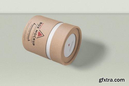 Round Cardboard Box Mockups