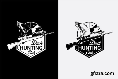 DUCK HUNTING Badges and Logos