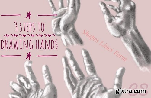 3 Steps to Drawing Hands