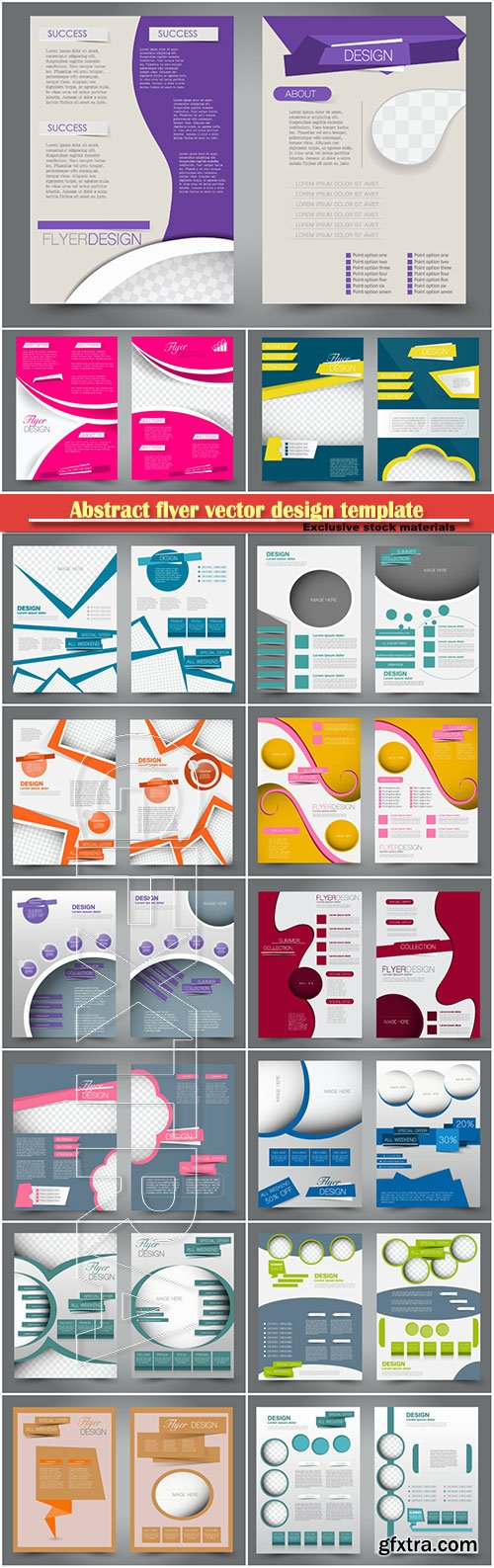 Abstract flyer vector design template, business brochure