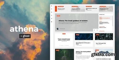 ThemeForest - Athena v1.1.4 - Modern Ghost Theme with Masonry Layout - 22751436