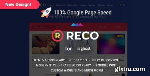 ThemeForest - Reco v4.4 - A recopilatory theme for Ghost - 21803324