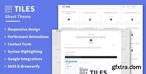 ThemeForest - Tiles v2.0.0 - Animated Grid-based Ghost Theme - 15925455