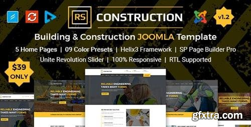 ThemeForest - RS Construction v1.1 - Building and Construction Joomla Template - 21640406