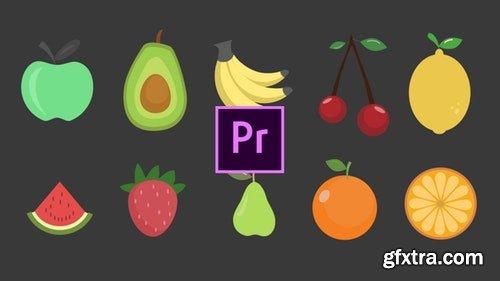 MotionArray Fruits Animated Icons 199541