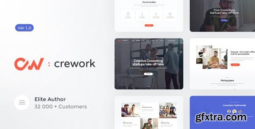 ThemeForest - Crework v1.1.2 - Coworking and Creative Space WordPress Theme (Update: 20 March 19) - 20318106